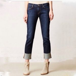 AG Adriano Goldschmied Stevie cuff crop jeans